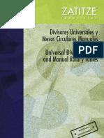 Catalogo ZATITZE Spagnolo Divisor Universal