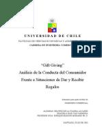 """""""GIFT GIVING"""" ANÁLISIS DE LA CONDUCTA DEL CONSUMIDOR FRENTE A SITUACIONES DE DAR Y RECIBIR REGALOS"""