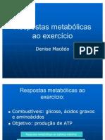 Respostas Metablicas Ao Exerccio Pos CDCS Agosto 2009