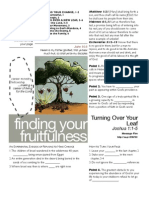Fruitfulness 5 Josh 1_1-5 Handout 082111
