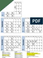 Playwriting Class Schedule Fall2011