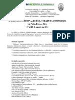 AALC - UNLP - X Jornadas de Literatura Comparada - Tercera Circular