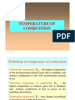 Temperature of Combustion