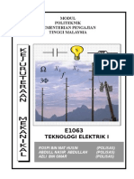 Teknologi Elektrik 1 E1063 -Unit Introduction