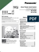 Panasonic Home Theater Audio System SCHT07