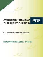 Avoiding Thesis Pitfalls