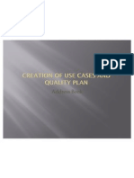 Creation of Use Cases and Quality Plan1