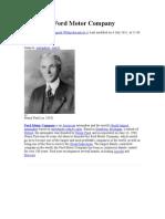 History of Ford Motor Company