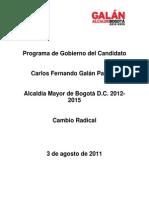 Programa de Gobierno Carlos Galan