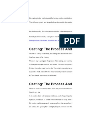 interview question   Foundry   Casting (Metalworking)