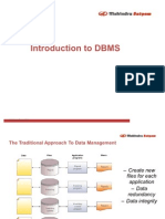 Introduction to DBMS & Its Architecture