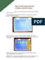 Evidencia Instalacion de Sistemas Operetivos