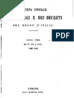 Legge 794 - 1862 e regolamento - Passaggio Al Demanio Dei Beni Ecclesiastici