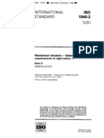 ISO 1940-2-1997 Mechanical Vib