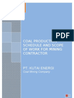 Scope of Work for Mining Contractor & Coal Production Schedule_Rev.1