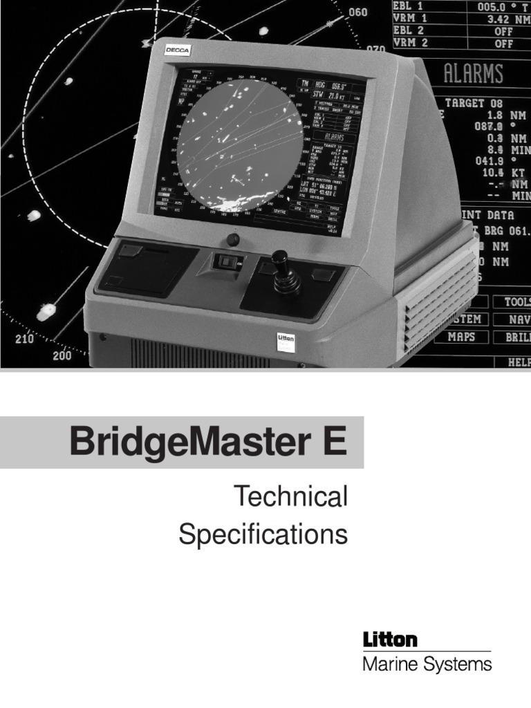 bridge master e tech spec antenna radio map rh es scribd com sperry marine radar installation manual sperry marine radar service manual