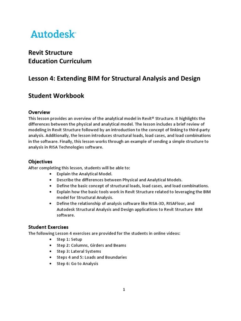 RSC Unit-04W Linking | Autodesk Revit | Structural Analysis