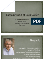 Fantasy World of Eoin Colfer-Yereschenko