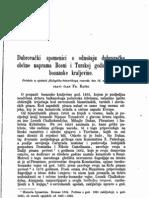 Franjo Rački - Dubrovački spomenici o odnošaju dubrovačke obćine naprama Bosni i Turskoj godine razspa bosanske kraljevine