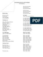 English Songs and Poems
