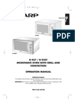 Sharp R937 Oven Manual