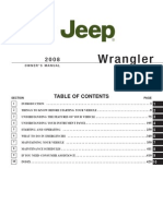 2626715 Jeep JK 2008 Wrangler Owners Manual