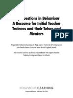 Key Questions in Behaviour
