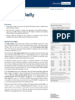 Danske Daily Investment Research — General Market Conditions 08-15-2011
