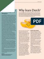 Why Learn Dutch - Erasmus Magazine (2011)