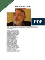 Adrian Paunescu - Ultima Poezie