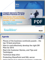 Dr Planning and Best Practices for 2010