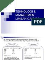 Teknologi & Manajemen Limbah Cair Rs