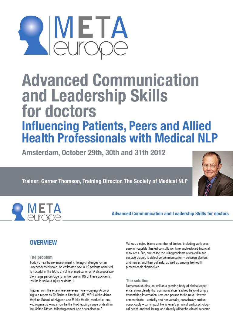Communication & Leadership for doctors Amsterdam October 29