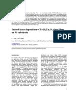 Pulsed Laser Deposition of SrBi2Ta2O9 Thin Films