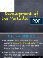 Development of the Periodic Table