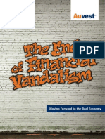 The End of Financial Vandalism Moving Forward to the Real Economy