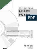 Samsung DVD-HR735 Manual