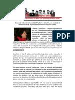 Discurso de la Cra. Mónica Quilodrán en el  46° Aniversario del MIR