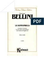 Bellini - La Sonnambula Vocal Score