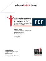 Customer Experience Accelerates in 2011 Temkin Group