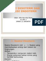 Reaksi Eksoterm Dan Reaksi Endoterm