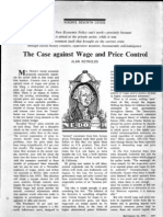 Alan Reynolds on Price Controls 1971 Pages 1 & 2