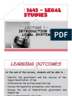 Lecture 1 - Legal System