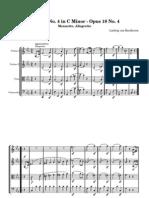 Quartet n4 in c a Minor...Bethoveen