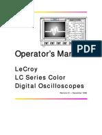 LeCroy Scope Operator's Manual REVA