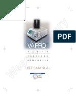 Vapro 5520 Manual