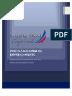 Política Nacional de Emprendimiento