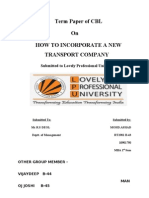 How to Incorporate a New Transport Company