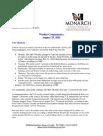 The Monarch Report 8-15-11