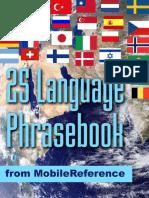 Advanced 25 Language Phrase Book